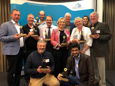 Winners of the 2019 Lero Director's Prizes pictured at the ceremony held at part of the Lero Summit.
