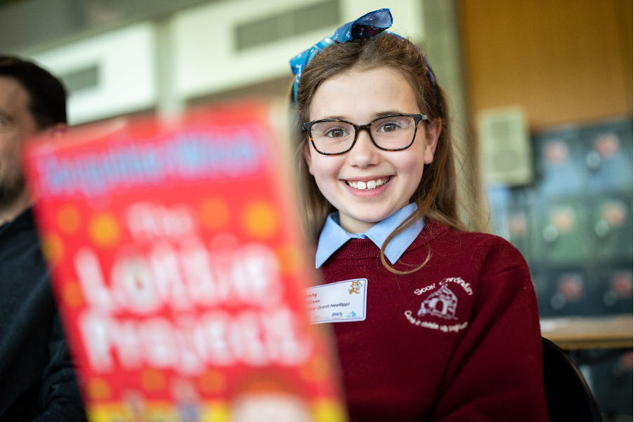 A primary school finalist photographed at the Scratch Finals in UL in 2019.